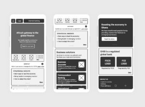 mobile wireframes home