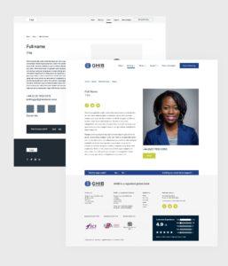 profile desktop page